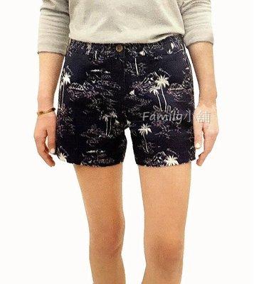 *溫馨家庭*Tailor Vintage 女彈性棉麻混紡短褲 休閒短褲 印花短褲  #125571