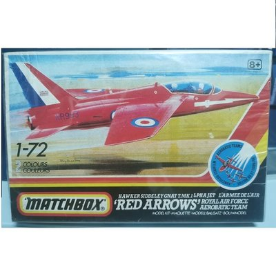 Matchbox 環球 火柴盒 PK-15 1/72 英國 雪德蘭 蚊納 紅箭表演隊