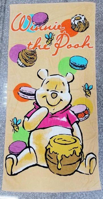 迪士尼大浴巾 小熊維尼 海灘巾~台灣製~嬰兒浴巾~兒童浴巾 小熊維尼 小熊維尼大浴巾 100%棉生日禮物