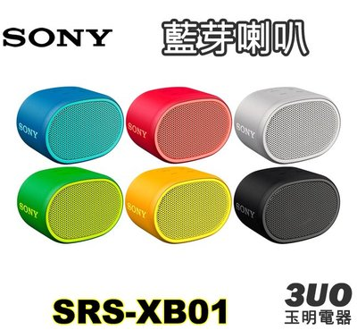 〈公司貨〉SONY藍芽喇叭 SRS-XB01