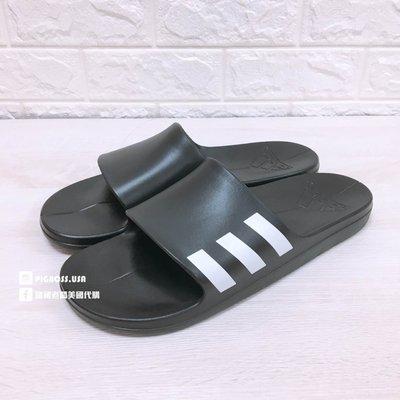 【豬豬老闆】Adidas Aqualette Slides 黑白 輕量 一體成形 防水 拖鞋 男女鞋 CG3540