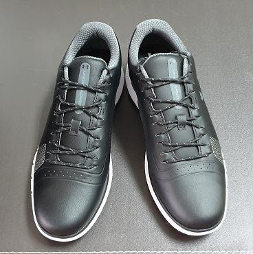(易達高爾夫)全新原廠UNDER ARMOUR  HOVE Fade 黑色 無釘 高爾夫球鞋