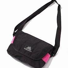 Gregory 黑 x 粉紅 細 size messenger bag 袋