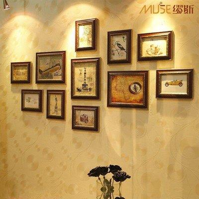 哆啦本鋪 繆斯 家居飾品 沙發照片墻 歐式環保相框創意組合 復古相片墻創意 D655