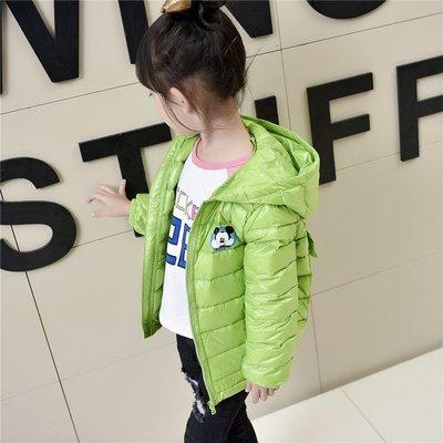 韓版秋冬新款兒童卡通輕羽絨系列連帽輕薄短版時尚男女童輕便保暖外套