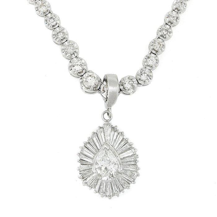 【JHT 金宏總珠寶/GIA鑽石專賣】1.010ct天然造型鑽石項鍊/(JB44-A09)