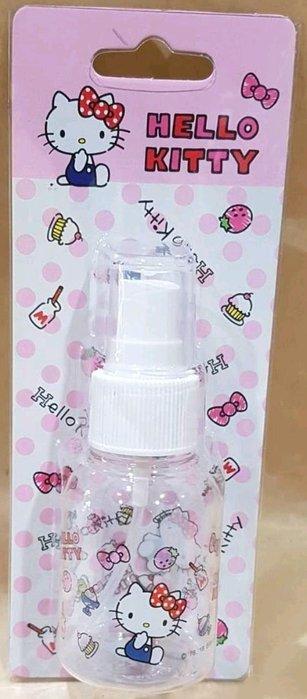 牛牛ㄉ媽*台灣正版授權商品㊣Hello Kitty噴霧空瓶 凱蒂貓旅行噴霧瓶 清潔噴霧瓶 50ML 甜點表情款