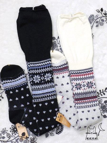 【拓拔月坊】日本知名品牌 靴下屋 上擺鬆鬆~雪花結晶圖騰膝上襪、過膝襪 日本製