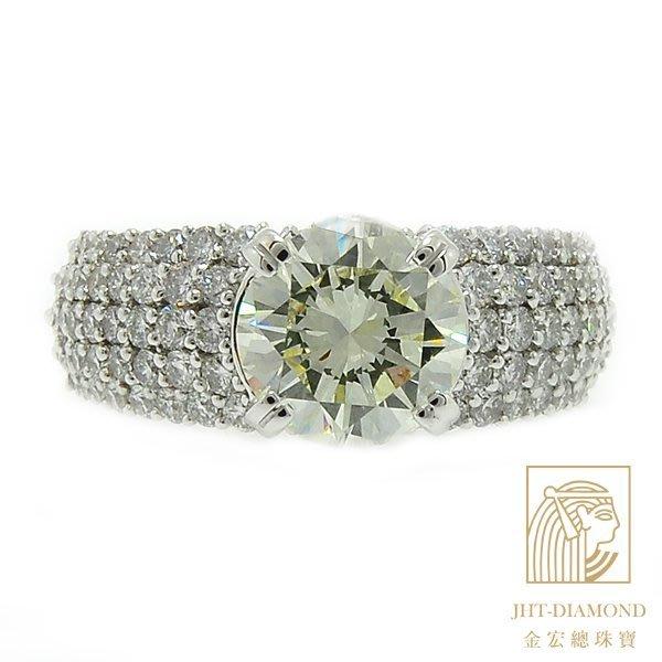【JHT金宏總珠寶/GIA鑽石專賣】2.08ct鑽石戒指/材質:PT900(D000592)附證