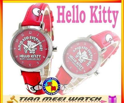 【全新原廠公司貨】【天美鐘錶店家直營】【下殺↘超低價】日本Hello Kitty錶 40週年紀念錶款 LK401L紅