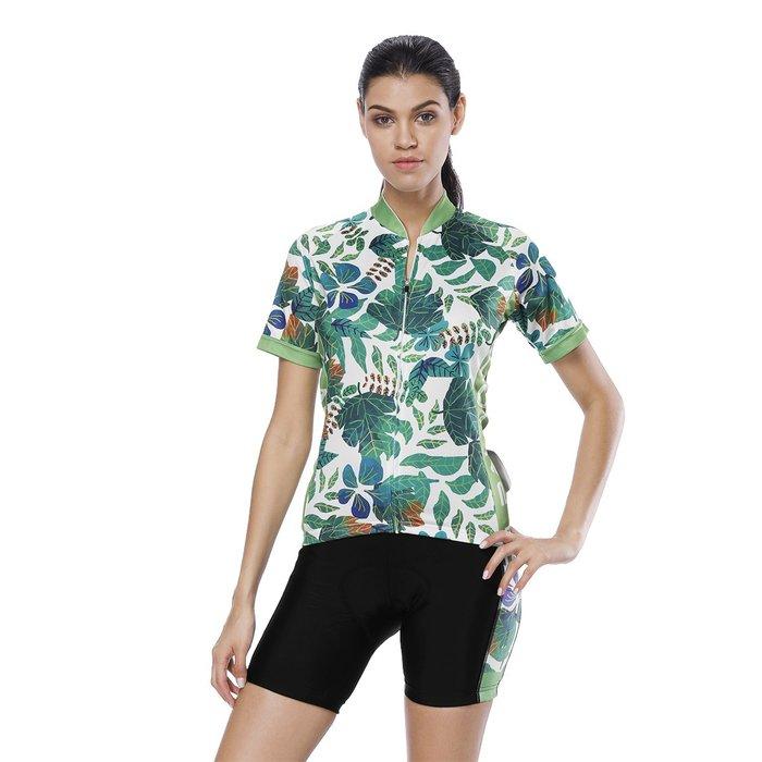 【Paladin】女款短袖車衣褲套裝 :: 夏日綠葉