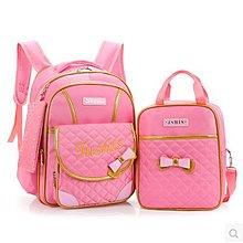 韓版女孩1-3-6年級中小學生時尚減負護脊雙肩包 可愛公主兒童書包