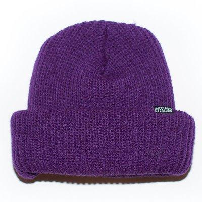 OVERLORD SKATEBAORDS BASIC BEANIE 短 毛帽  『紫』