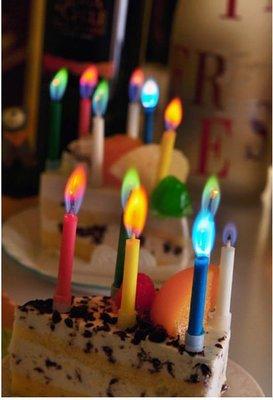 發光派對屋@生日派對彩色火焰蠟燭(6支裝)