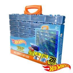 MATTEL-HOT WHEELS 風火輪小汽車收納盒-28入(可收納28台小車不含小汽車)
