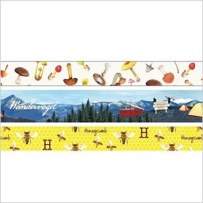 【R的雜貨舖】紙膠帶分裝 MARK'S maste和紙膠帶組 大自然 (野菇、露營、蜜蜂) 1單位=50cm