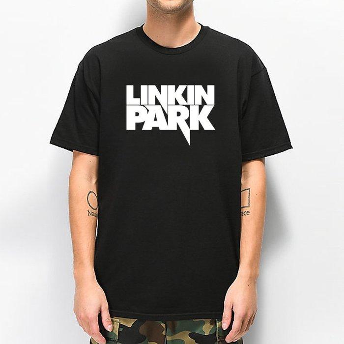 LINKIN PARK Logo 聯合公園 短袖T恤 黑色 搖滾樂團 Rock