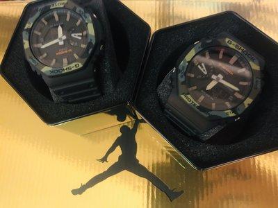 綠色款 Casio G-Shock GA-2100-1A1 手錶 200米 防水 碳纖維 超薄 雙顯 AP 皇家橡樹