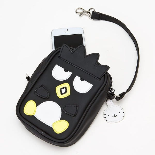 市伊瓏屋 XO 酷企鵝 萬用造型 手機袋 (黑.坐姿) 4901610387085