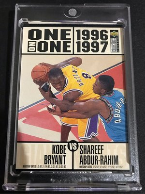 🐍1996-97 Collector's Choice #361 Bryant/Abdur-Rahim ONE