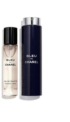 CHANEL 香奈兒 BLEU 藍色 男性淡香水行動版 噴瓶 含淡香水  20ml