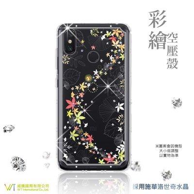 【WT 威騰國際】WT® XiaoMi 小米 Max 3 施華洛世奇水晶 彩繪空壓殼 保護殼 軟殼 -【楓彩】