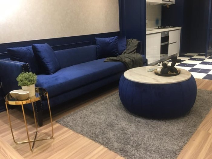 【順發傢俱】復古沙發,藍色系 全訂製