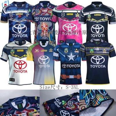 健身合集 16昆士蘭牛仔橄欖球服19上青牛仔紀念版橄欖球衣 rugby Jersey rugbyby