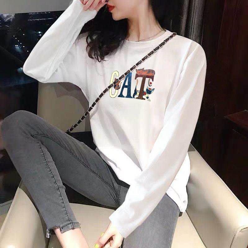 現貨【1393】字母拉麵恐龍多圖案長袖T恤上衣