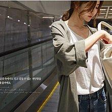 Maisobo 韓國KOREA官網款 早秋 人氣款~韓系亞麻中長款 風衣外套 R-12177預購