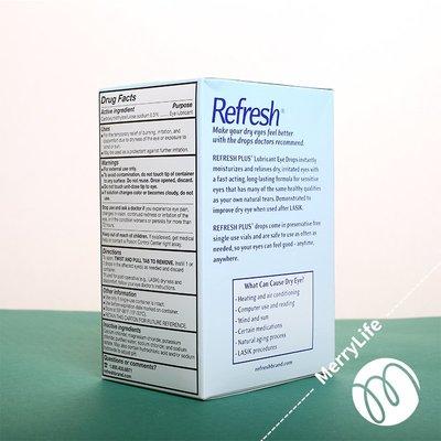 【貓兒美國代購】美國直郵 Allergan Refresh Plus 滴眼液 無防腐劑人工淚液 100支
