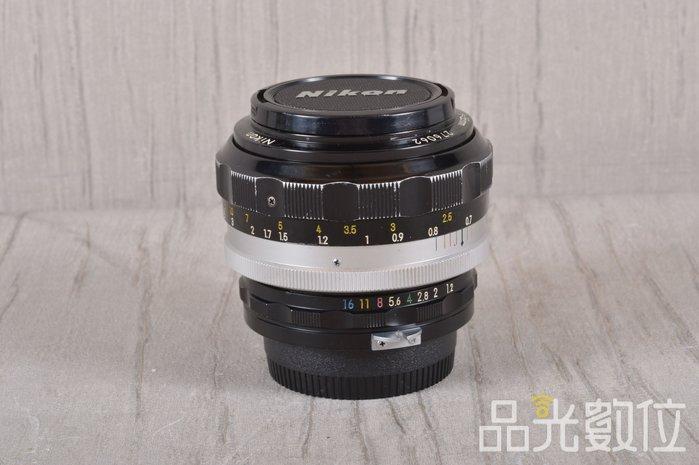 【品光數位】Nikon Non-Ai 55mm F1.2  定焦 大光圈 人像 手動鏡 FH#57724J