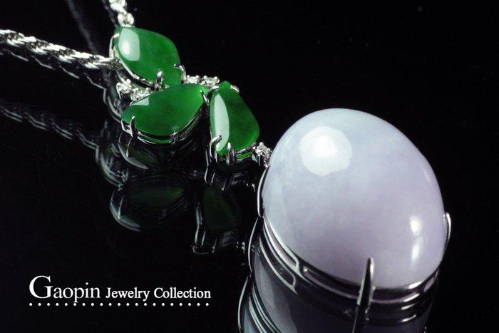 【高品珠寶】緬甸天然A貨紫羅蘭《鴿紫蛋》紫翡翠鑽石墜子 ♥精品現貨♥J95