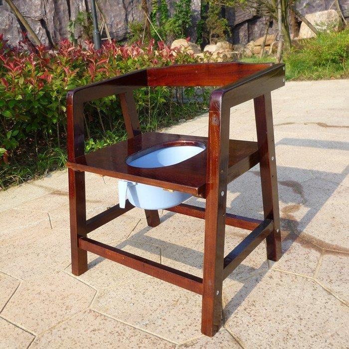 YEAHSHOP 實木坐便椅老人座便器孕婦方便椅移動馬桶扶Y185