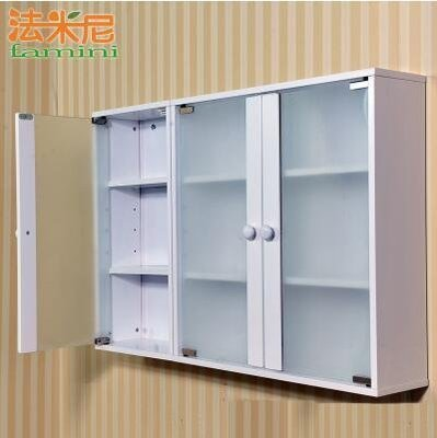【優上】衛生間浴室收納櫃壁櫃儲物櫃櫥櫃陽臺牆櫃玻璃藥箱「磨砂單門+雙門櫃」