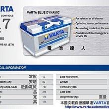 DIY自取舊品交換 華達 VARTA 電瓶 (F17 80AH) KUGA FOCUS MK3 MK2 S40 XC60