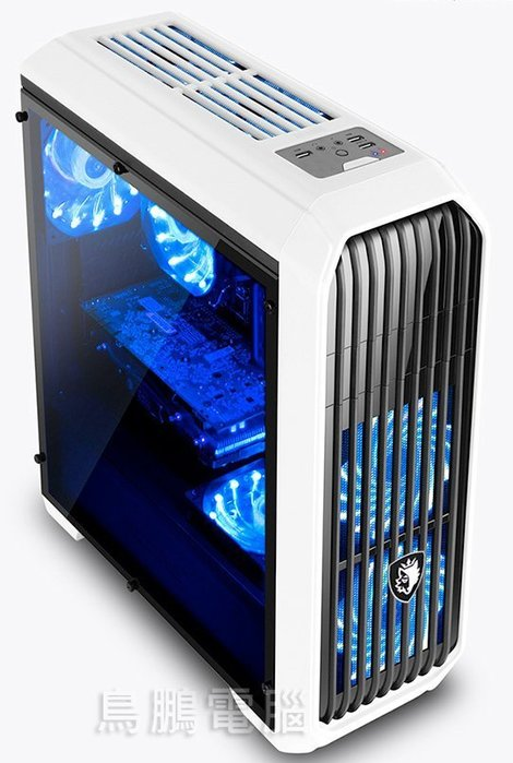 【鳥鵬電腦】SADES 賽德斯 阿努比斯 Anubis 全透側水冷電腦機箱 機殼 鋼琴烤漆 可裝SSD 下置電源 ATX