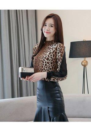 日韓服飾*設計感豹紋上衣*韓國連線**...