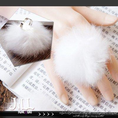 Oo吉兒oO日系原宿小清新風 超可愛毛絨絨兔毛戒指【J1U5023】