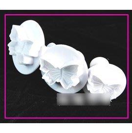 【翻糖模-塑膠-3件蝴蝶】翻糖彈簧壓模...