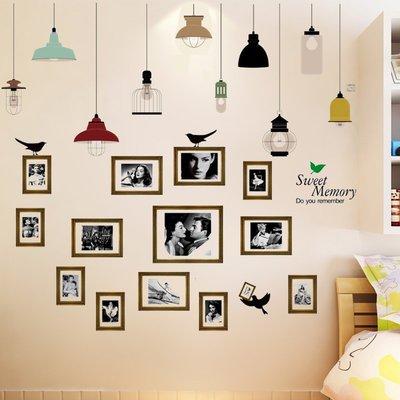壁貼  墻貼創意自粘墻貼畫客廳溫馨臥室床頭個性宿舍墻壁裝飾品墻畫貼紙—莎芭