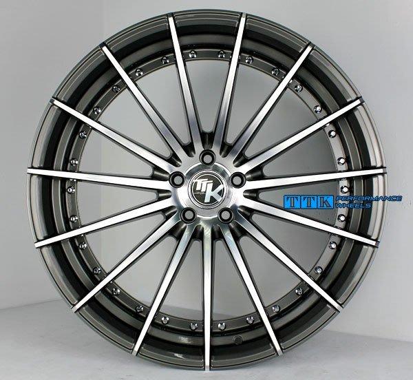 【台灣輪胎王】類ADV.1 22吋 全車系超跑規格 客製化前後配大深V款鋁圈 灰車面(買圈送全新輪胎)