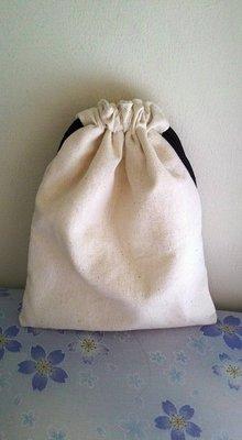 小瓶子~~簡易素雅手工束口袋胚布袋胚布包空白袋手工藝蝶古巴特