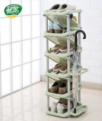 ☜男神閣☞鞋架多層簡易組裝經濟型家用收納宿舍寢室省空間功能現代簡約鞋櫃