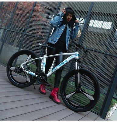 鋁合金山地自行車男超輕單車越野賽車雙減震一體輪變速女學生成人QM