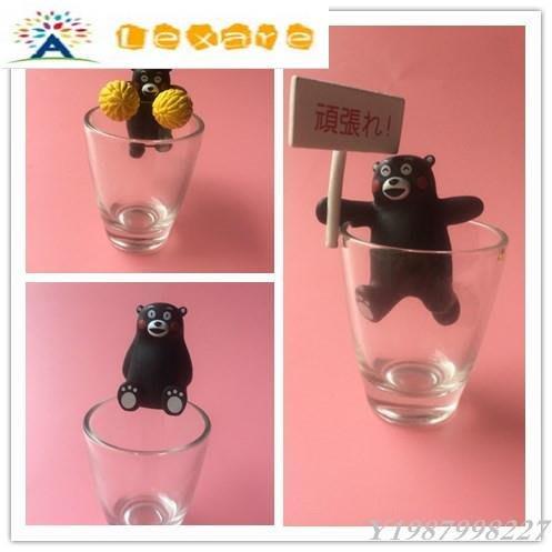 ❀Lexare❀正版散貨 日本熊本縣記事城 熊本熊 茶友杯沿扭蛋玩具 公仔擺件