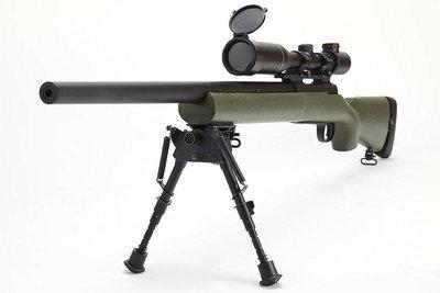 (武莊)綠色 MODIFY MOD24 M24 空氣狙擊槍(附LED發光彈匣,可調式板機)-MODM24O
