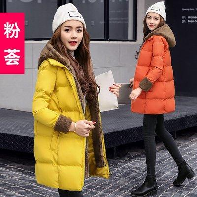 羽絨服 棉衣棉襖女新款反季棉服韓版加厚冬季棉衣女裝中長款羊羔毛外套潮