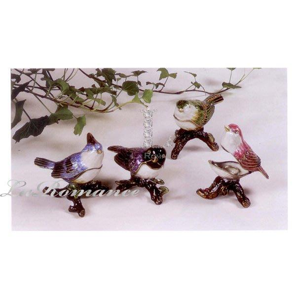【Creative Home】Cottage Chic 法式田園系列彩繪水鑽小鳥迷你首飾盒