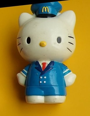 **M8-16** (裸裝無盒)麥當勞2003出的Hello Kitty 塑膠玩偶/表面有使用痕跡,能接受再下標